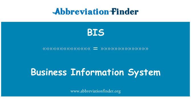 BIS: Business Information System