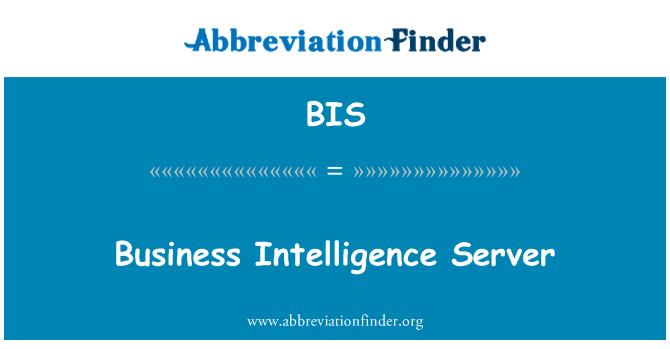 BIS: Business Intelligence Server