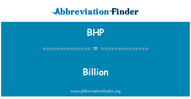 BHP: 亿元