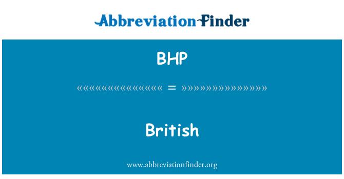 BHP: 英国