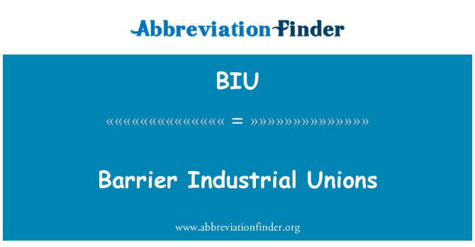 BIU: Barrier Industrial Unions