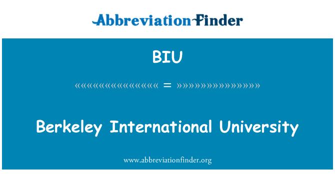 BIU: Berkeley International University