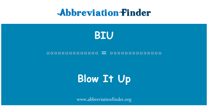 BIU: Blow It Up