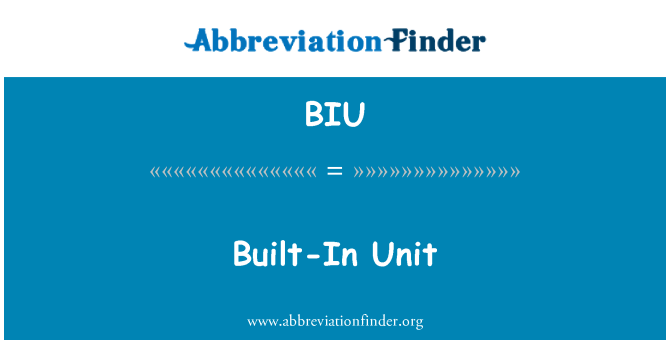 BIU: Built-In Unit