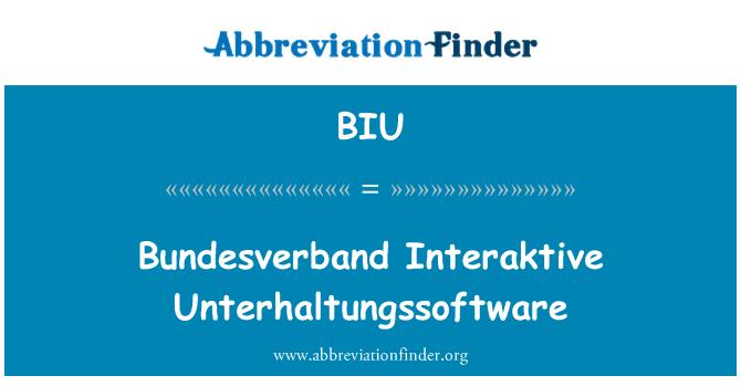BIU: Bundesverband Interaktive Unterhaltungssoftware