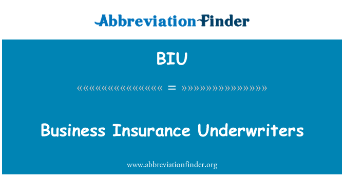 BIU: Business Insurance Underwriters