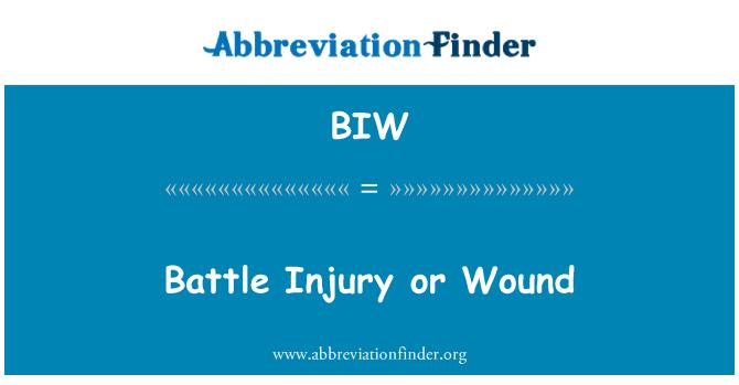 BIW: Battle Injury or Wound