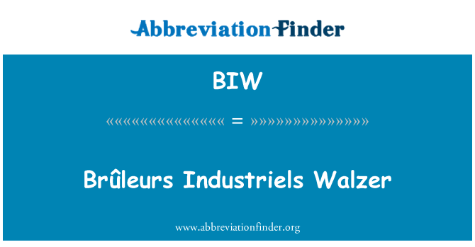 BIW: Brûleurs Industriels Walzer