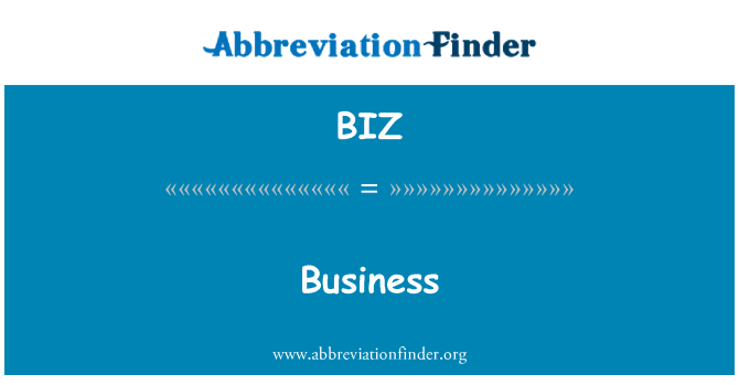 BIZ: Business