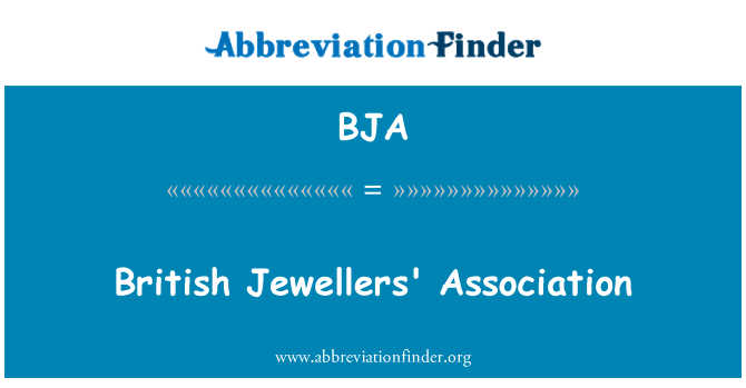 BJA: British Jewellers' Association