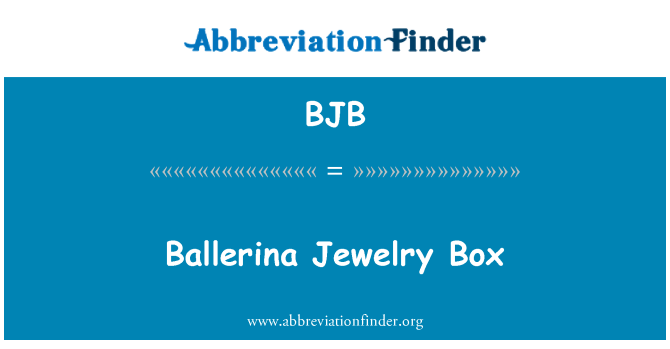 BJB: Ballerina Jewelry Box