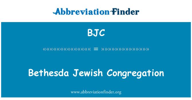 BJC: Bethesda Jewish Congregation