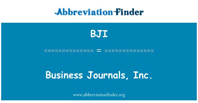 BJI: Business Journals, Inc.