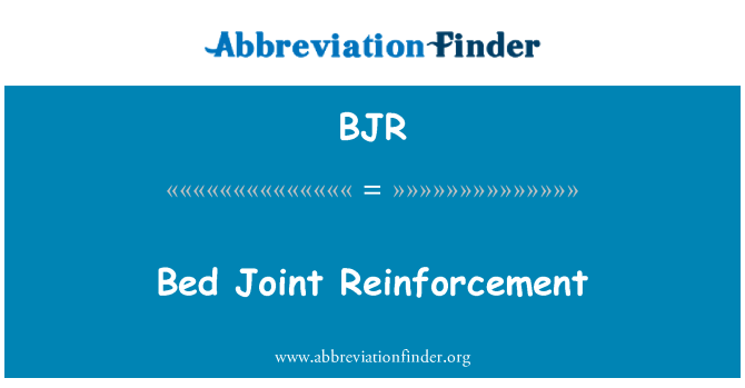 BJR: Bed Joint Reinforcement