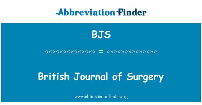 BJS: British Journal of Surgery