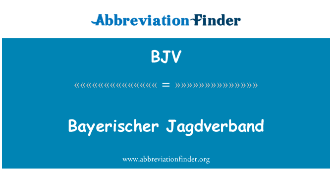 BJV: Bayerischer Jagdverband