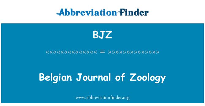 BJZ: Belgian Journal of Zoology