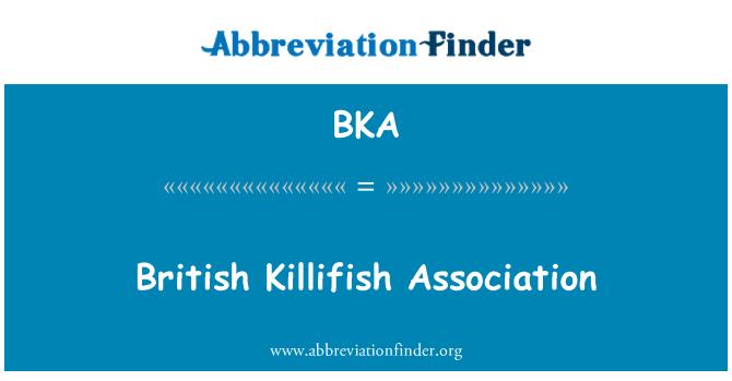 BKA: British Killifish Association