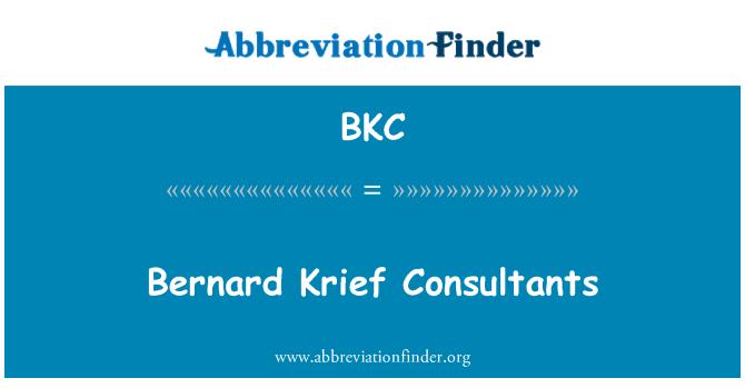 BKC: Bernard Krief Consultants