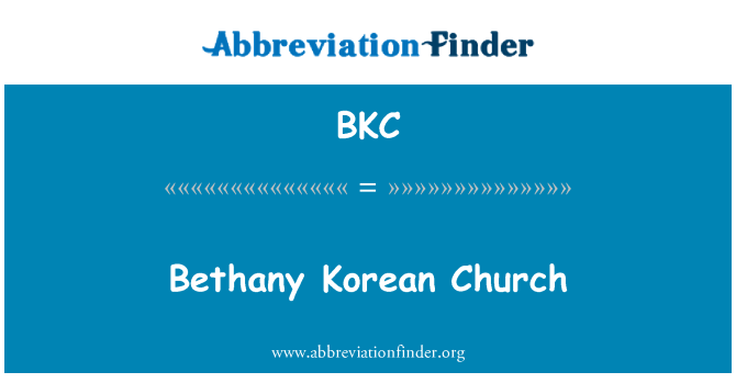 BKC: Bethany Korean Church