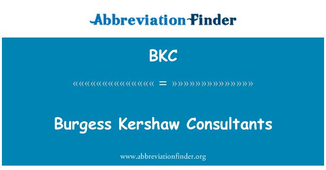 BKC: Burgess Kershaw Consultants