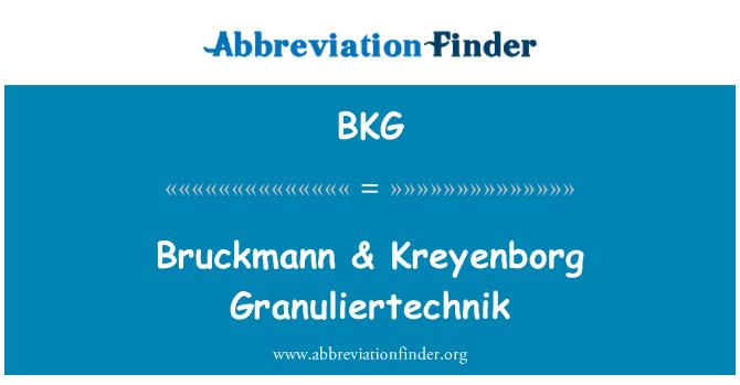 BKG: Bruckmann & Kreyenborg Granuliertechnik