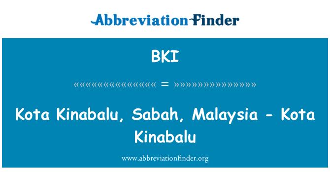 BKI: Kota Kinabalu, Sabah, Malaysia - Kota Kinabalu