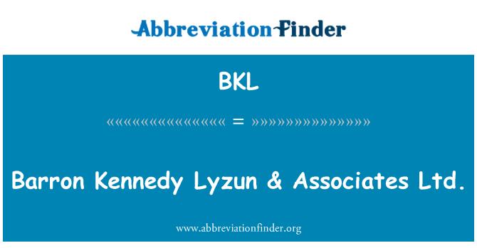 BKL: Barron Kennedy Lyzun & Associates Ltd.