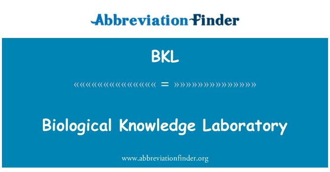 BKL: Biological Knowledge Laboratory