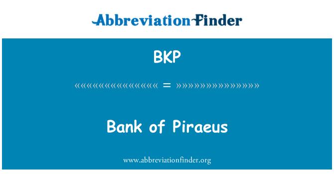 BKP: Bank of Piraeus