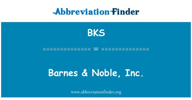 BKS: Barnes & Noble, Inc.