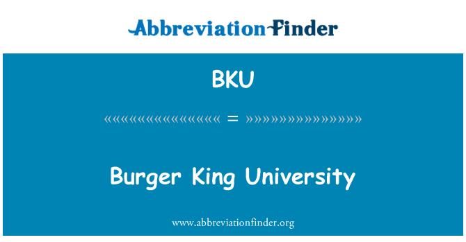 BKU: Burger King University