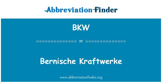BKW: Bernische Kraftwerke