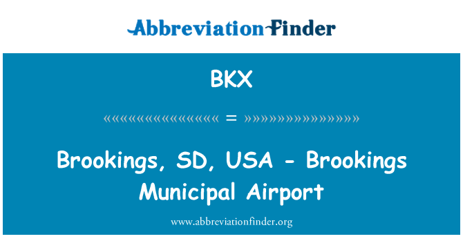 BKX: Brookings, SD, USA - Brookings Municipal Airport
