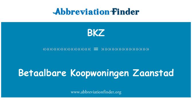 BKZ: Betaalbare Koopwoningen Zaanstad