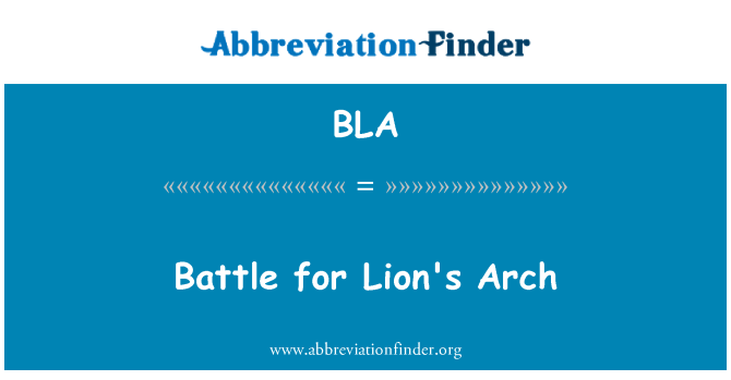 BLA: Battle for Lion's Arch