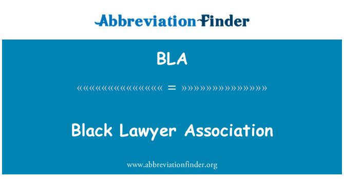 BLA: Black Lawyer Association