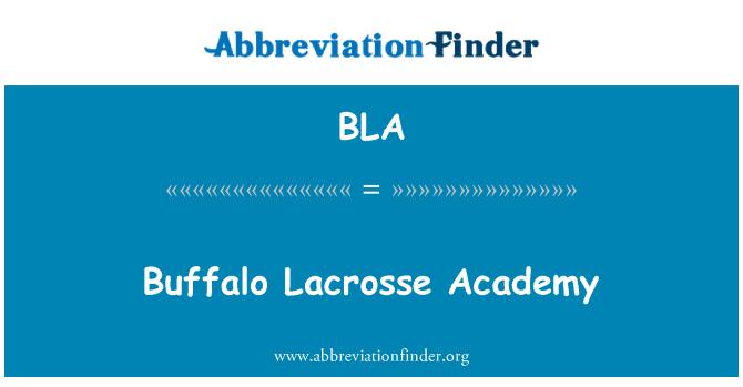 BLA: Buffalo Lacrosse Academy