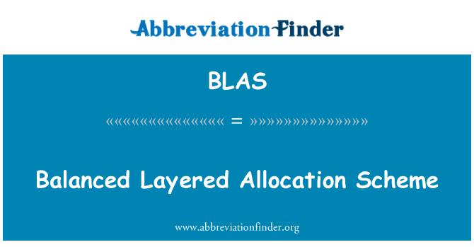 BLAS: Dengeli katmanlı ayırma şeması
