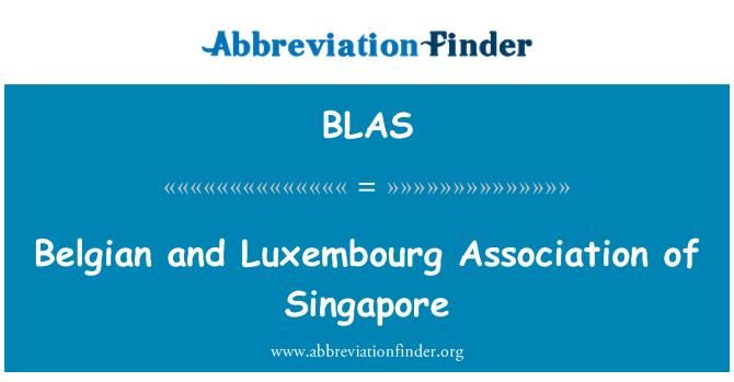 BLAS: Bélgica y Luxemburgo Asociación de Singapur