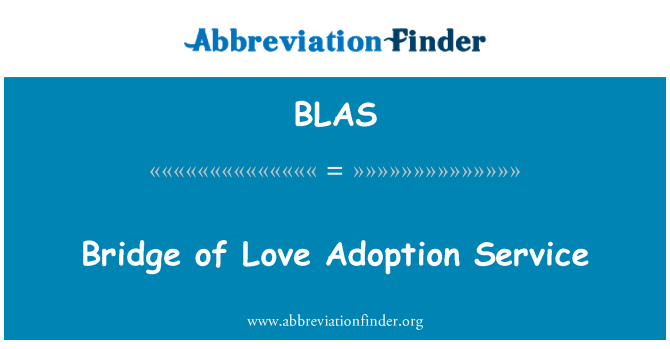 BLAS: Bridge of Love Adoption Service