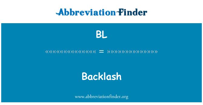 BL: Backlash