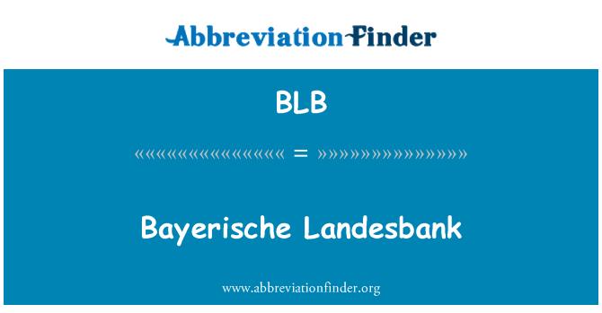 BLB: Bayerische Landesbank