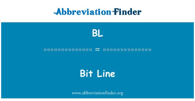 BL: Bit Line
