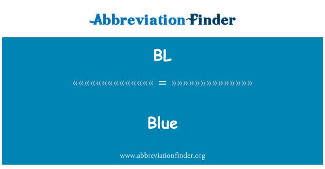 BL: Blue
