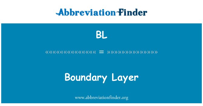 BL: Boundary Layer