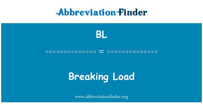 BL: Breaking Load