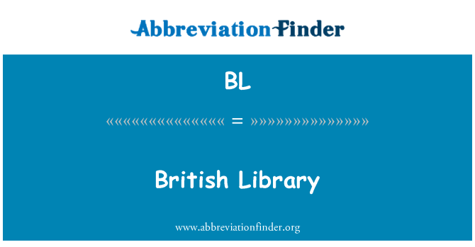 BL: British Library