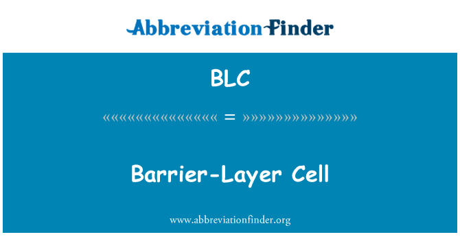 BLC: Barrier-Layer Cell