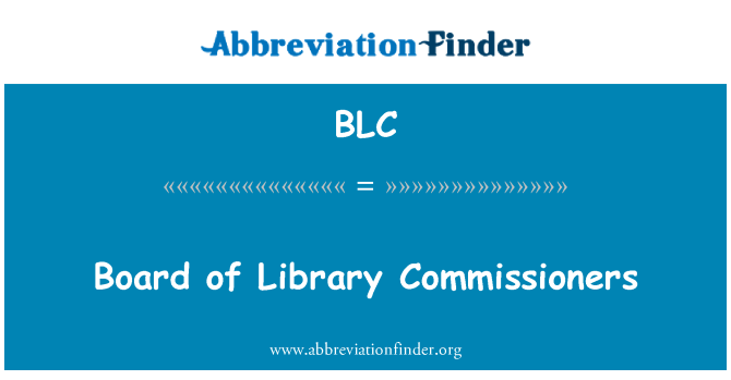 BLC: Board of Library Commissioners